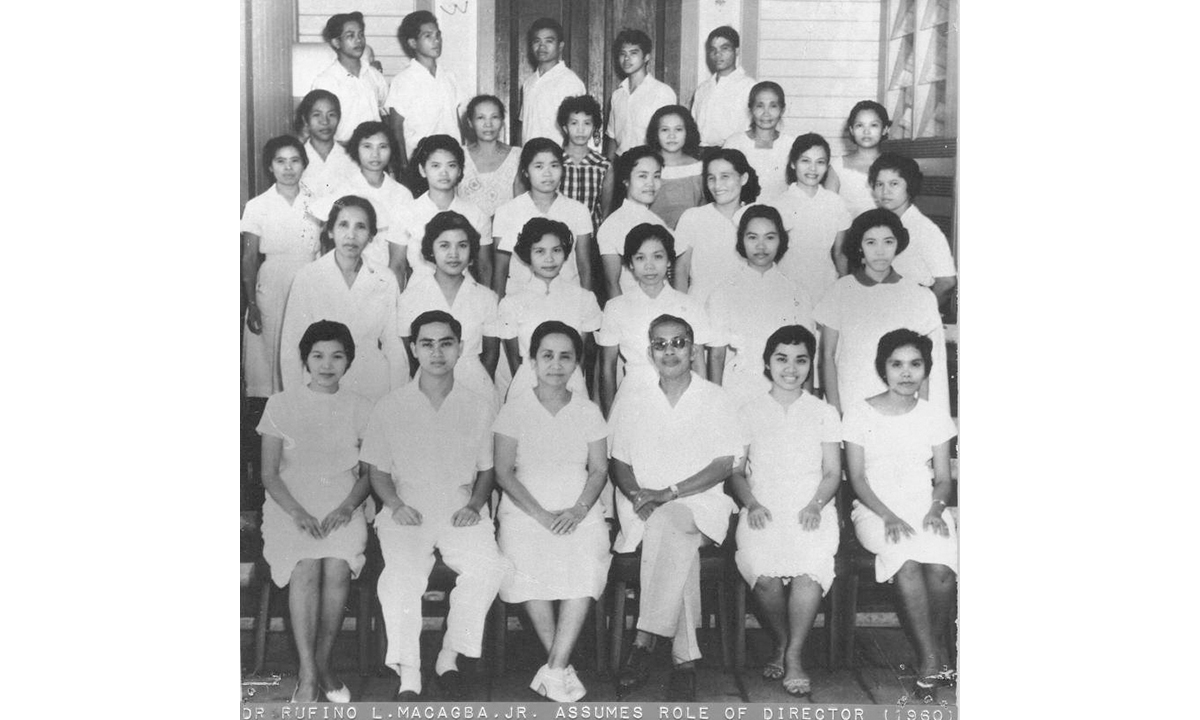 OLD Lorma Employees - Dr. Rufino L. Macagba, Jr. assumes role of Director (1960)